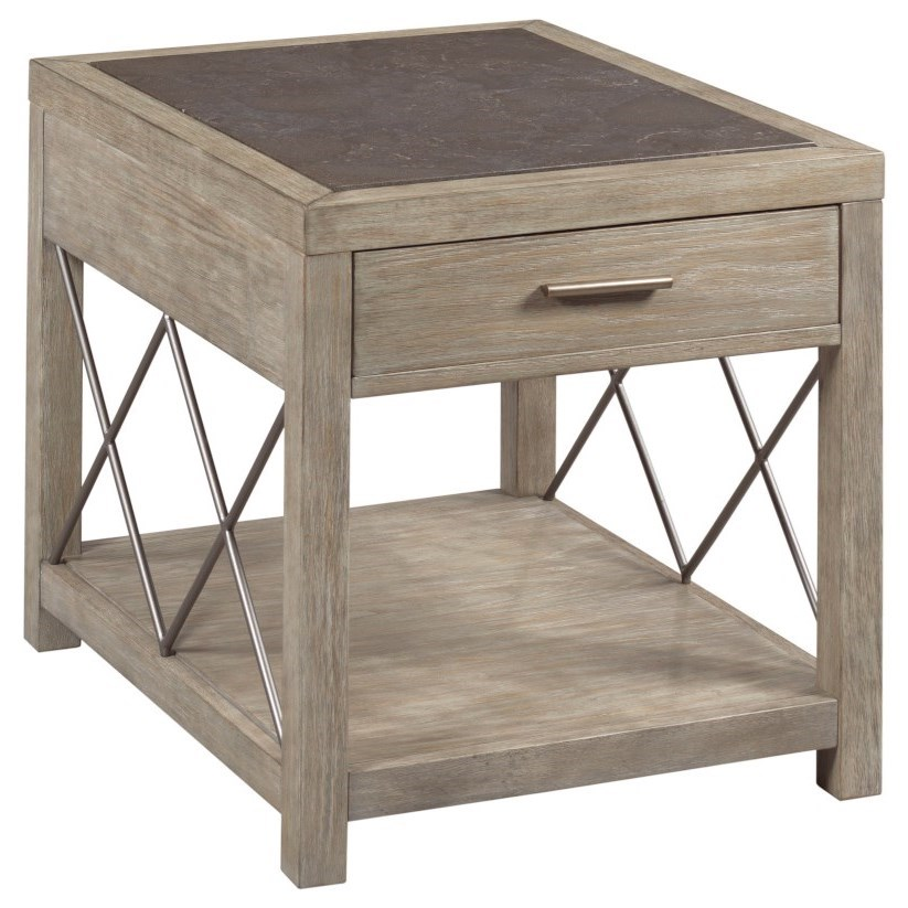 West End Rectangular Drawer End Table by Hammary at Darvin Furniture