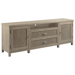 Farmhouse Media Cabinet with Outlet