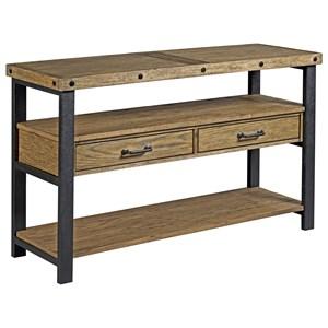 Rustic-Industrial 2 Drawer Sofa Table