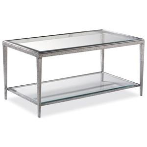 Rectangular Jinx Nickel Cocktail Table