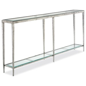 Jinx Large Nickel Console Table