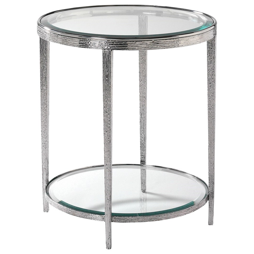 H & M Occasional Jinx Nickel Side Table by Hancock & Moore at Sprintz Furniture