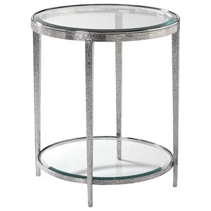 Jinx Nickel Round Side Table