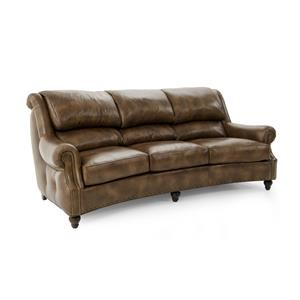 Traditional Conversation Sofa with Bustle Back and Outer Button Tufting