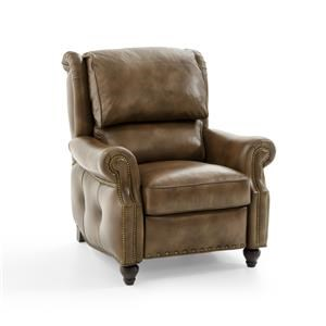 Traditional Push-Back Reclining Lounge Chair with Bustle Back and Outer Button Tufting