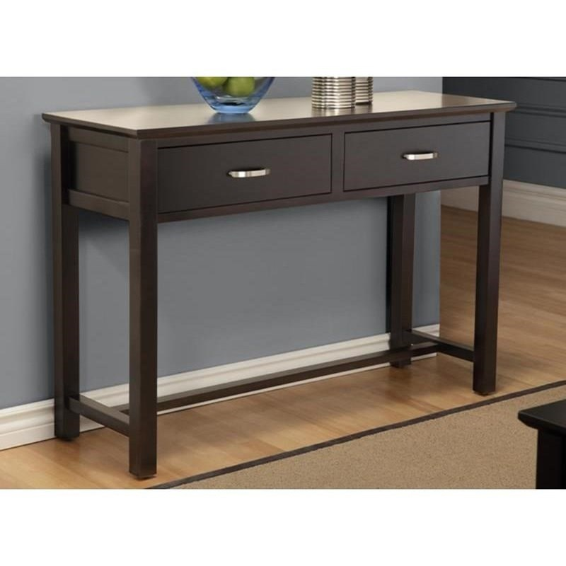 Brooklyn 2-Drawer Sofa Table by Handstone at Stoney Creek Furniture