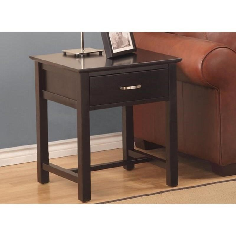 Brooklyn 1-Drawer End Table at Bennett's Furniture and Mattresses