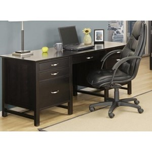 Double Pedestal Desk with 6 Drawers