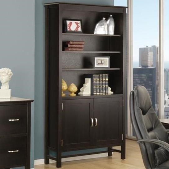 """Brooklyn 80"""" Bookcase with Doors at Bennett's Furniture and Mattresses"""