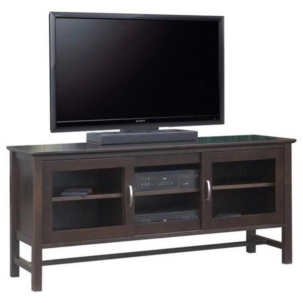 "Brooklyn 60"" HDTV Cabinet by Handstone at Jordan's Home Furnishings"
