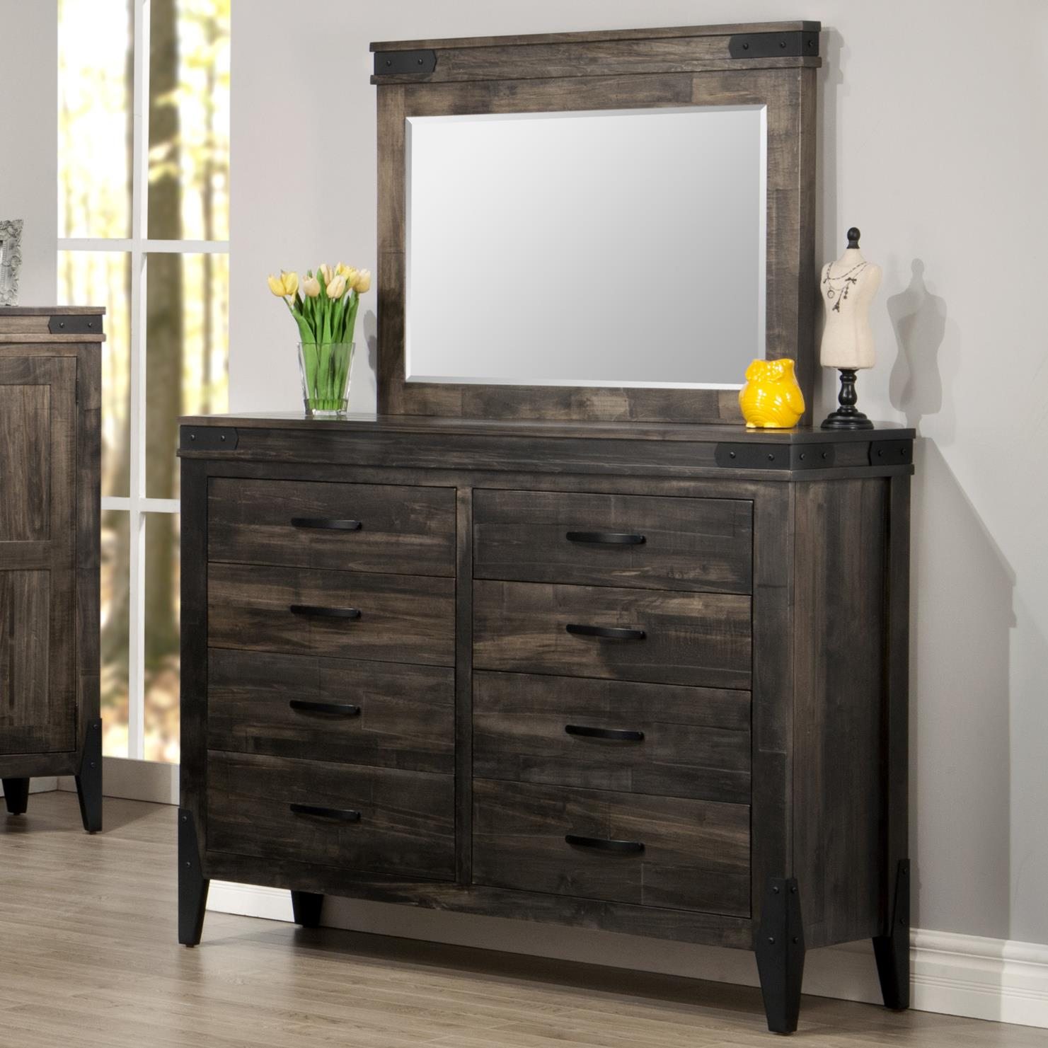 Chattanooga Dresser and Mirror Set by Handstone at Stoney Creek Furniture