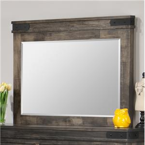 Landscape Mirror with Metal Brackets
