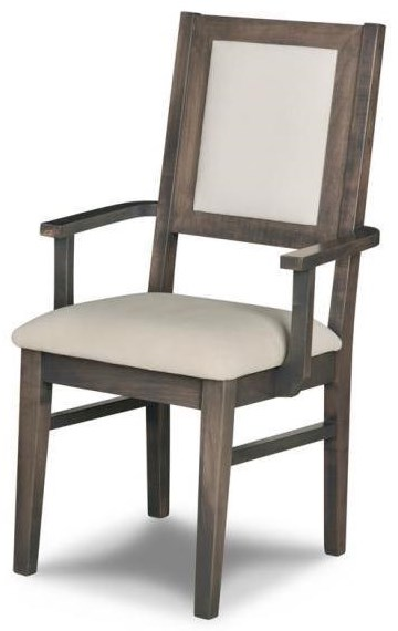 Contempo Solid Wood Arm Chair at Bennett's Furniture and Mattresses
