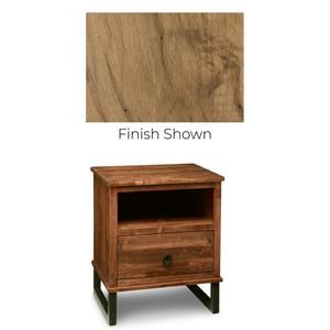 Solid Maple 1 Drawer Nightstand
