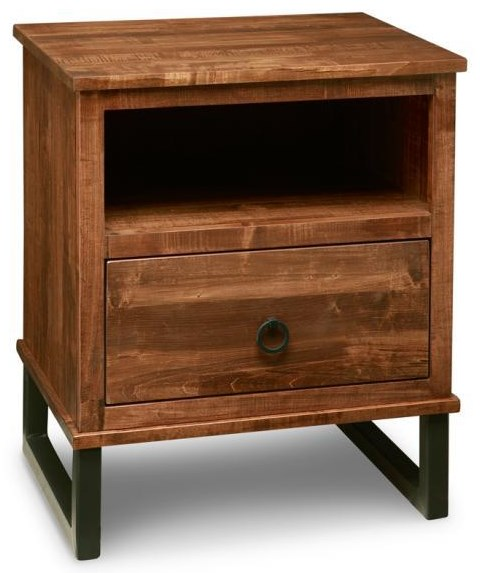 Cumberland Solid Maple 1 Drawer Nightstand at Bennett's Furniture and Mattresses