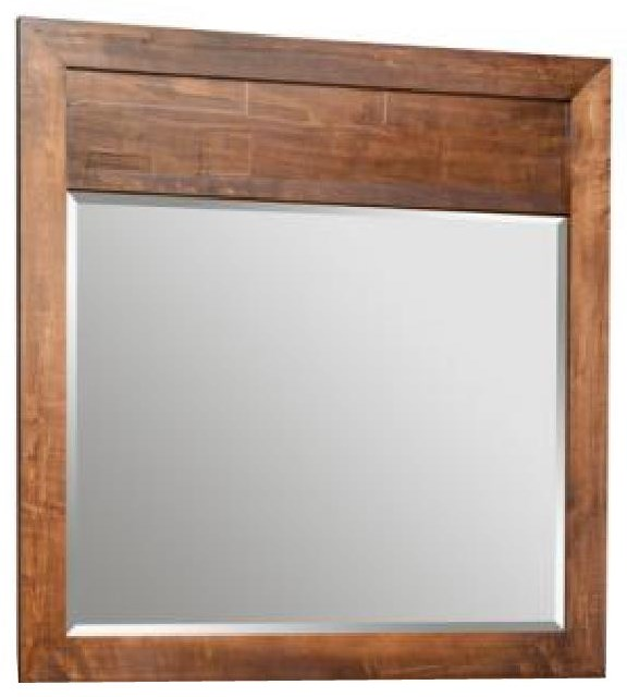 Cumberland Solid Maple Landscape Mirror at Bennett's Furniture and Mattresses