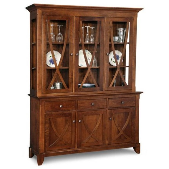 Florence Buffet & Hutch by Handstone at Jordan's Home Furnishings
