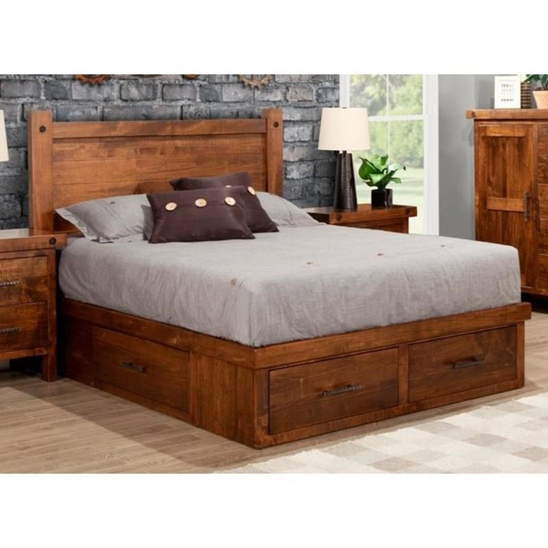 Rafters 4-Drawer Queen Condo Bed by Handstone at Stoney Creek Furniture