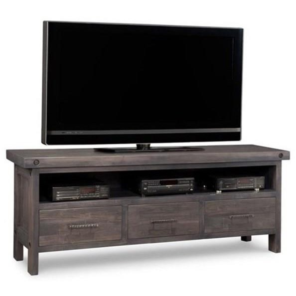 Rafters HDTV Unit by Handstone at Stoney Creek Furniture