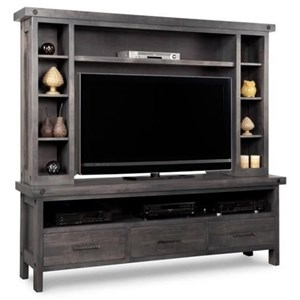 HDTV Unit with Hutch with 44'' TV Opening