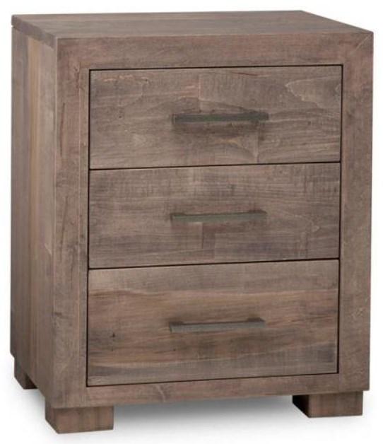 Stoney 3 Drawer Nightstand w/ Power by Handstone at Stoney Creek Furniture