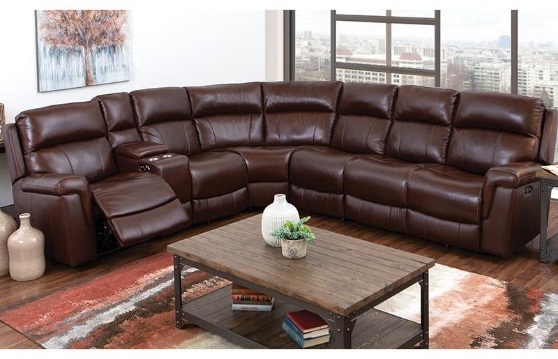 3 Pc Power Reclining Sectional Sofa by Happy Leather Company at Darvin Furniture