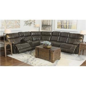 100% Top Grain Leather 3 Piece Motion Sectional