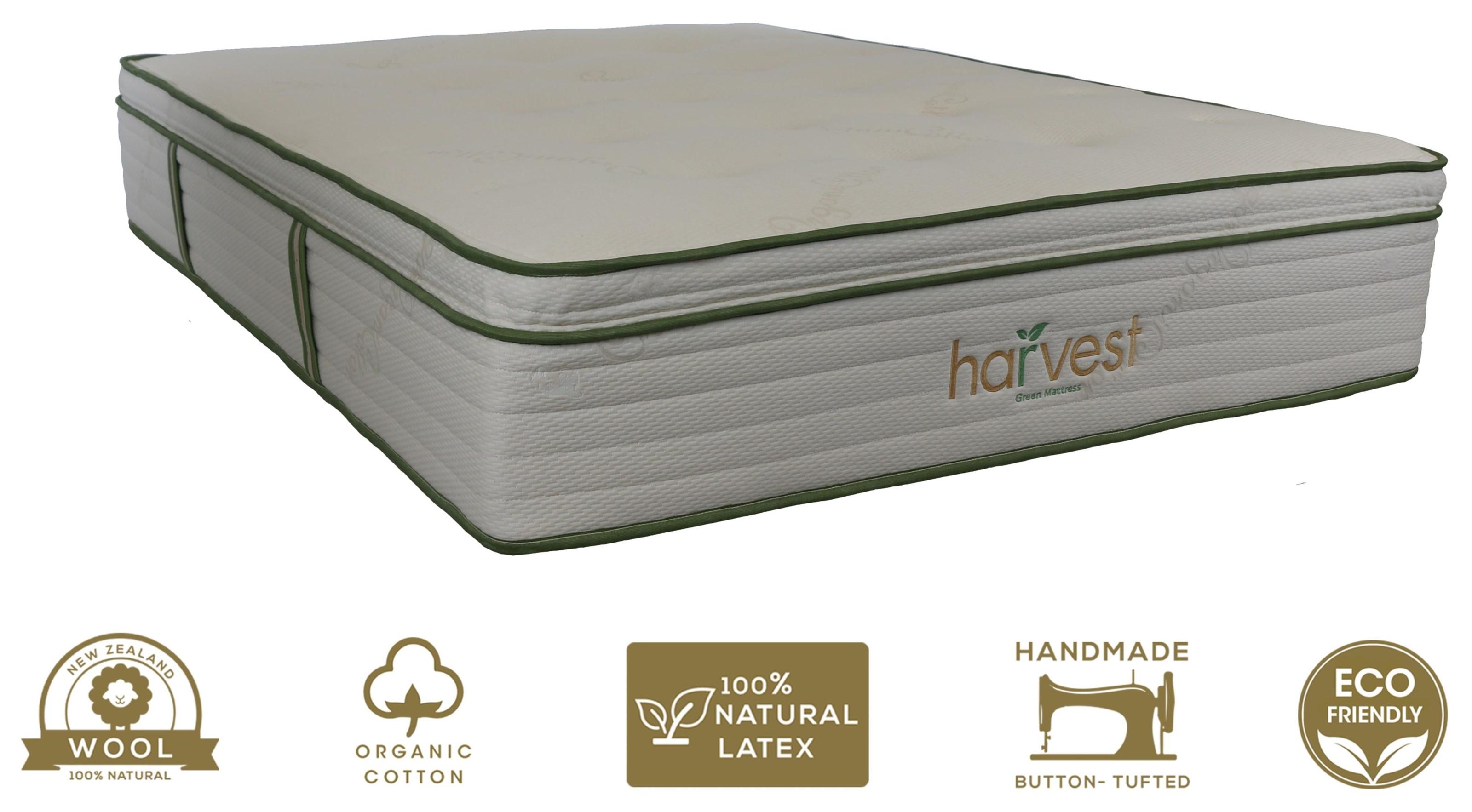 """Harvest Pillow Top Queen 13"""" Medium Plush Hybrid Mattress by Harvest Green Mattress at A1 Furniture & Mattress"""