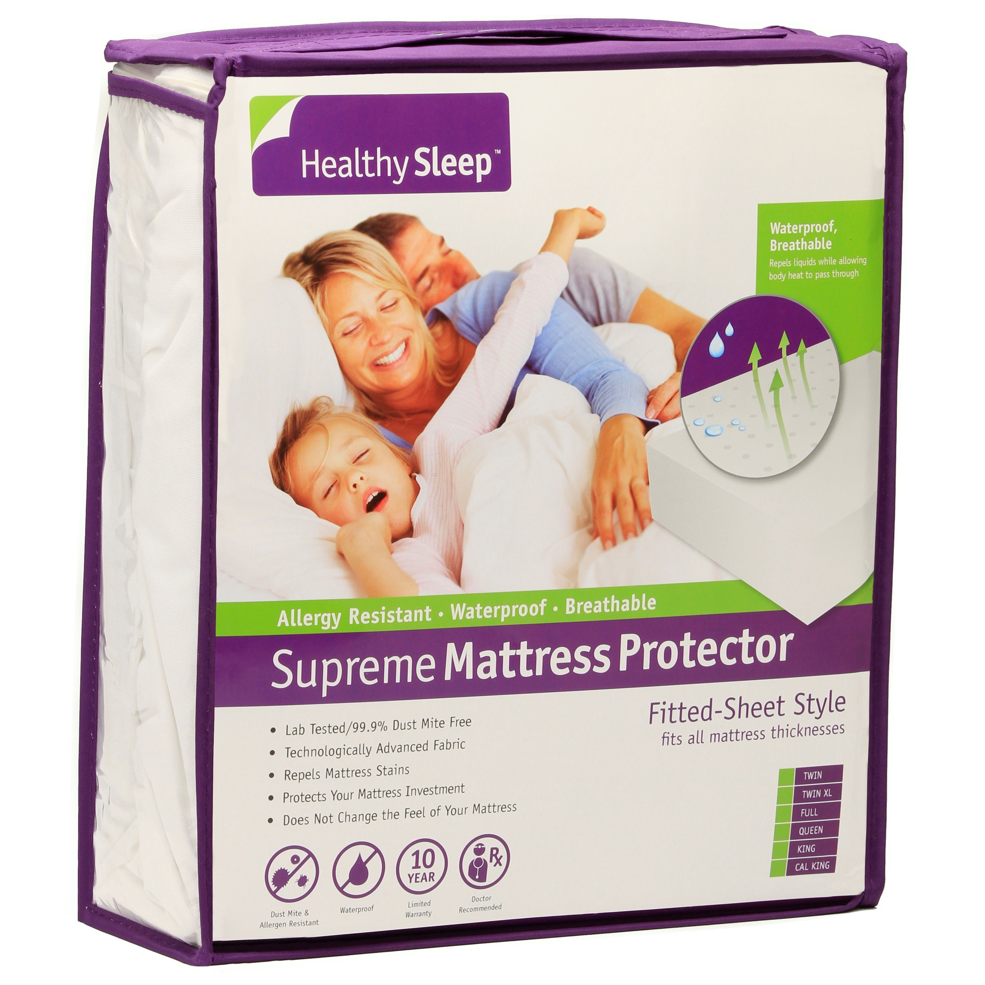 Supreme Mattress Protector Twin Supreme Mattress Protector by Healthy Sleep at Furniture and ApplianceMart