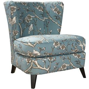 Contemporary Tiara Accent Chair with Tapered Feet