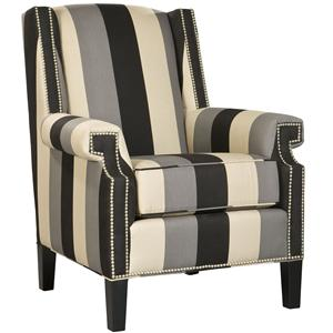 Contempary Rodman Accent Chair with Nailhead Trim