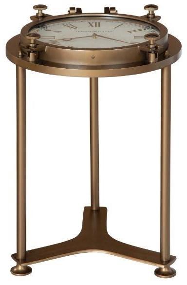 2-7 Porthole Clock Table by Hekman at Johnny Janosik