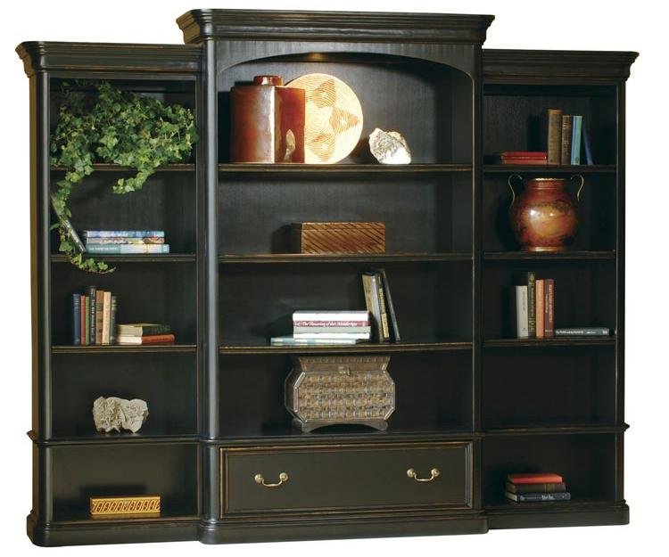 7-9100 Executive Wall Bookcase by Hekman at Alison Craig Home Furnishings
