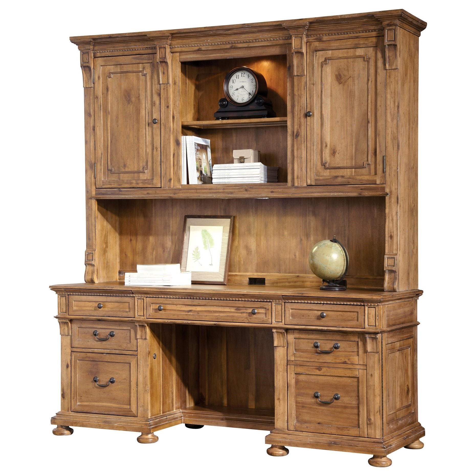 Office Express Executive Credenza and Deck by Hekman at Wayside Furniture