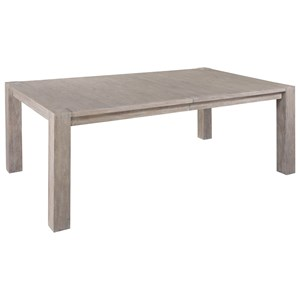 Rectangular Post Dining Table With Removable Leaves