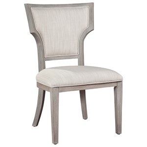 Upholstered Fan Back Dining Side Chair