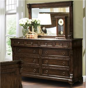 Hekman Charleston Place Dresser and Mirror Set