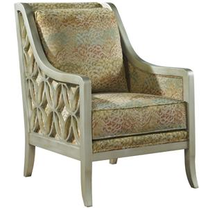 Contempary Harper Accent Chair with Tapered Legs