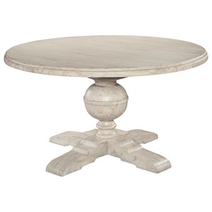 Round Pedestal Dining Table with Turned Pedestal