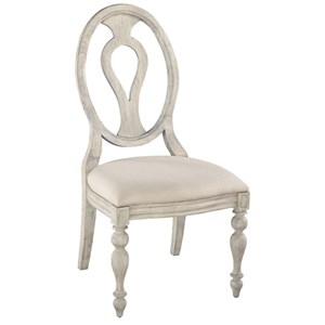 Oval Back Side Chair With Upholstered Seat