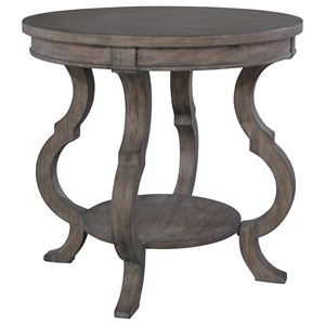 Round Lamp Table with Shaped Legs