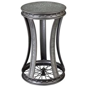 Metal Wheel End Table