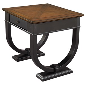 Lamp Table with One Drawer