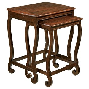 Traditional Nesting Tables with Distressed Finish