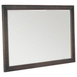 Reeded Frame Mirror in Sumatra Finish