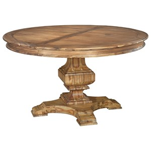 Round Dining Table with Leaf