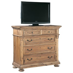 Bedroom Media Chest with Five Drawers