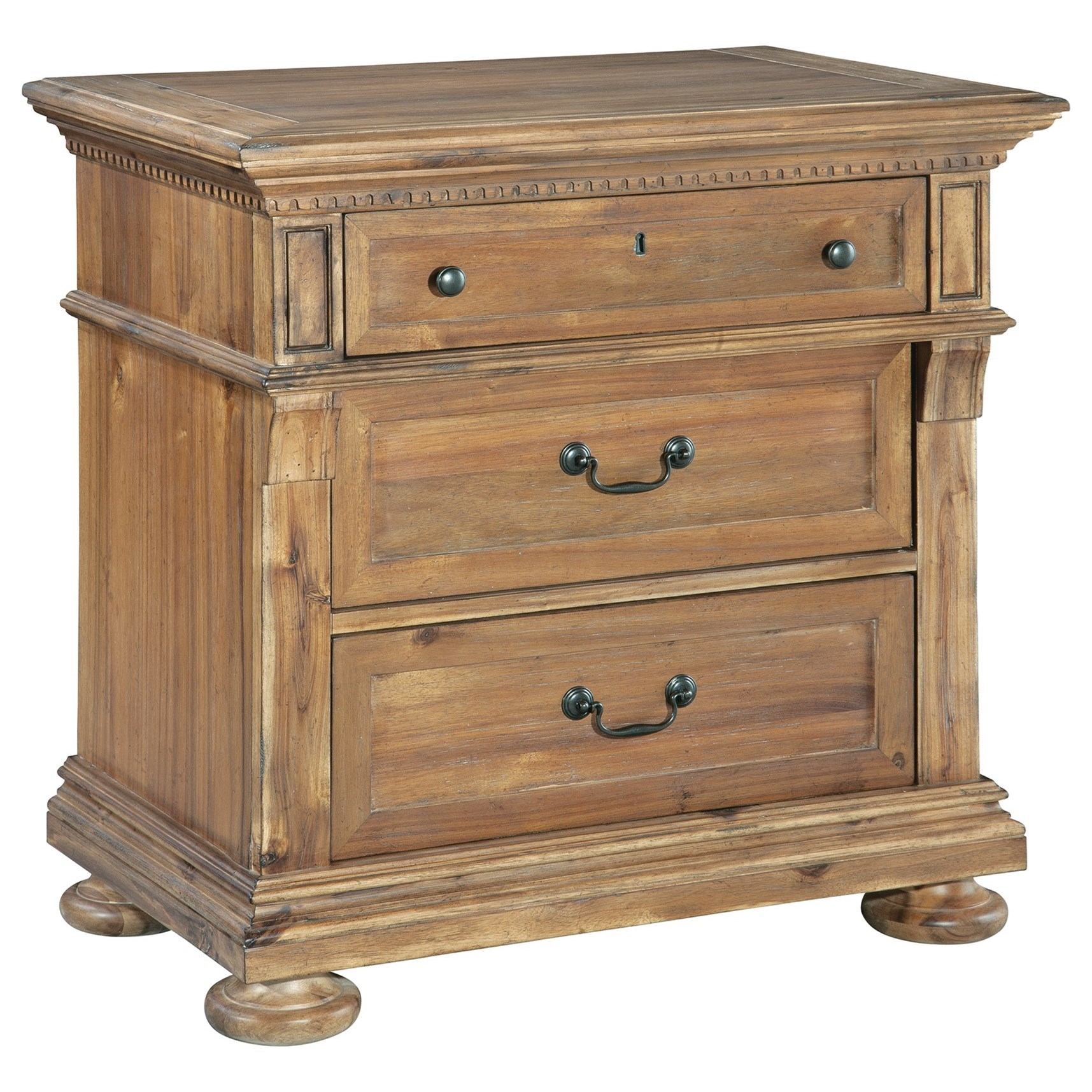 Wellington Hall Drawer Night Stand by Hekman at Alison Craig Home Furnishings