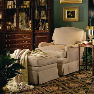 Henredon Henredon Upholstery La Salle Chair and Ottoman