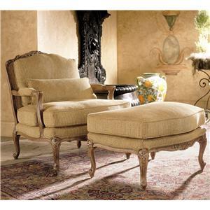 Henredon Henredon Upholstery Memoir Chair and Ottoman